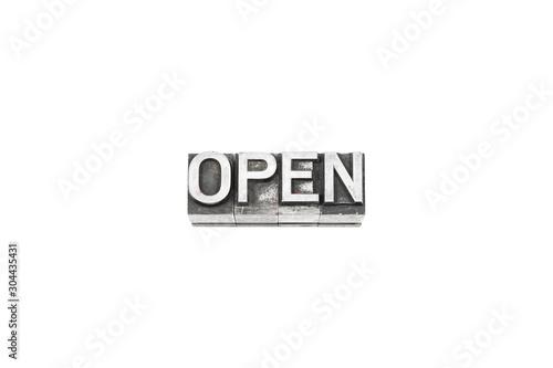 Fotografie, Obraz movable type OPEN text