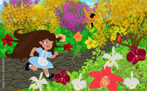 Photo Ana rodeada de flores