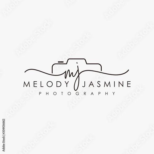 Fototapeta initial mj feminine logo collections template vector obraz