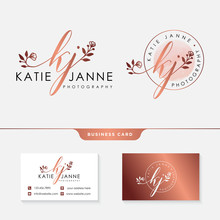Initial Kj Feminine Logo Collections Template Vector