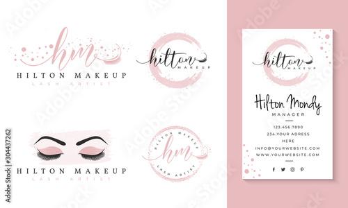 Fotografija eyelashes feminine logo collections template premium vector