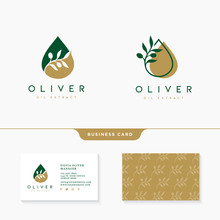 Olive Oil Logo Collection Temp...