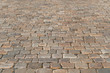 Texture of an old european paving road