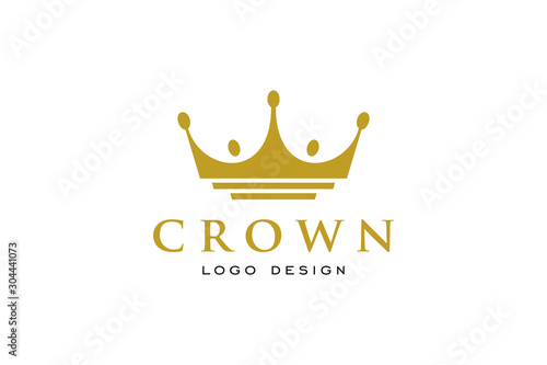 Foto Creative Crown Concept Logo Design Template