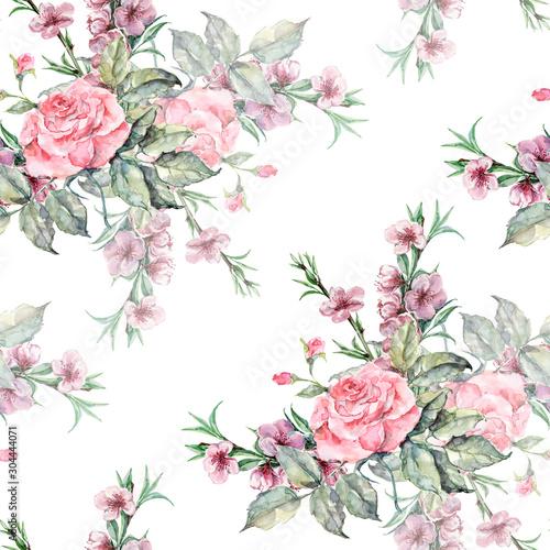akwarela-bezszwowe-tlo-kwiatowy-kwiaty-roz-i-brzoskwini