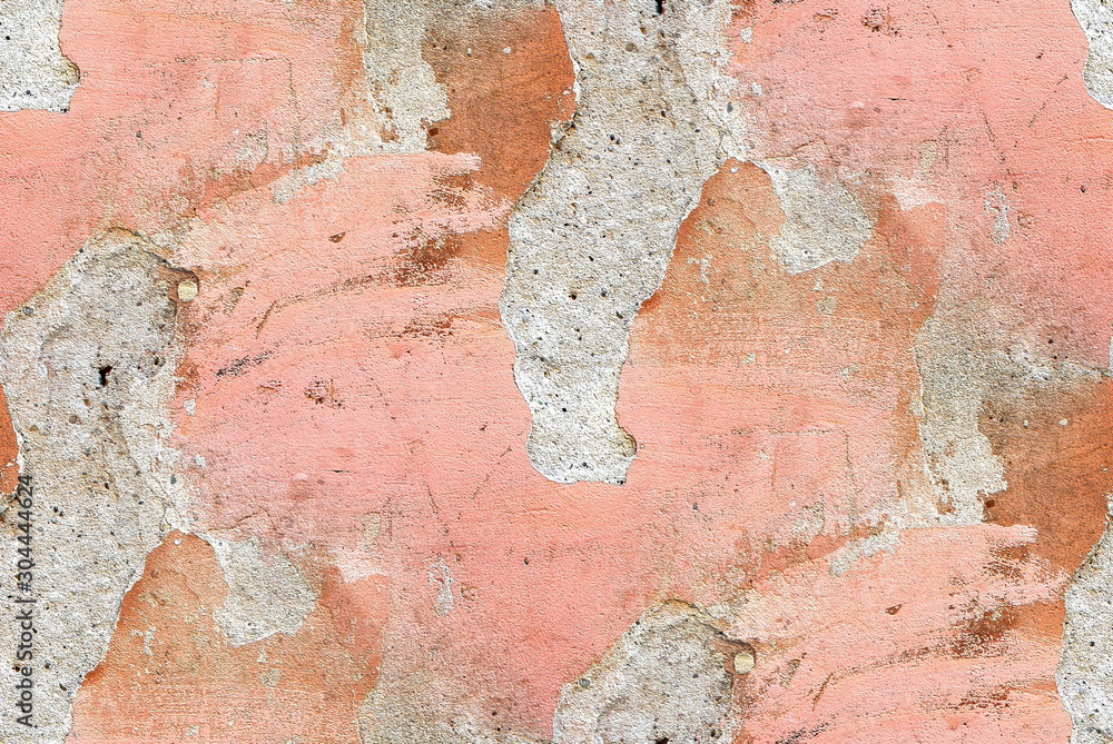 Old cement wall texture. Colorful cracked paint. Rough surface.
