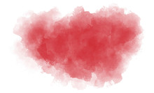 Dry Red Splash On White Paper Background. Abstract Watercolor Stain. Vector Illustration. Texture Gradient On White Backdrop. EPS 8.