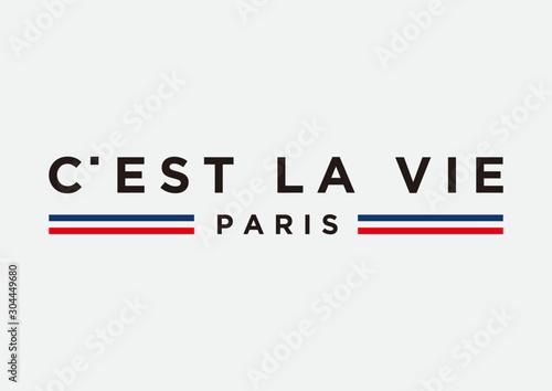 Fototapeta c'est la vie paris slogan for fashion print and other uses