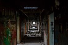 Corridor In An Abandoned Build...
