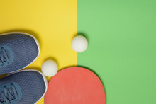 Table Tennis Racket, Balls And...