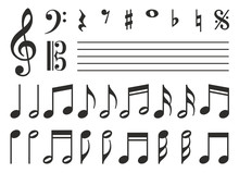 Music Notes Icons Set. Vector ...