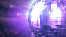 Beautiful Disco Ball Spinning ...