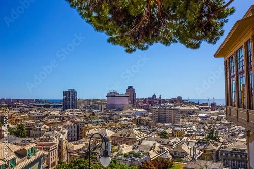 Photo  The center of Genova , Ligurian Sea , Liguria , Italy