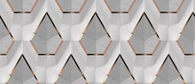 3D White Textile And Gray Conc...