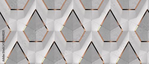 3d-biala-tkanina-i-szare-panele-betonowe-ze-zlotymi-elementami-dekoracyjnymi-wysokiej-jakosci-bezszwowa-konstrukcja-tekstury
