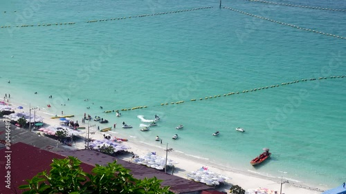 Fényképezés  Top view of Koh Larn island peaceful and popular tourist destination