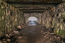 Tunnel Under The Railway Line, Leading From Parton To Parton Beach, Cumbria, England, UK
