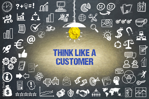 Think like a customer Fototapet