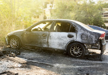 Burned Abandoned Car