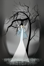 Composition With A Woman An Angel Who Sits On A Swing Suspended From A Branch