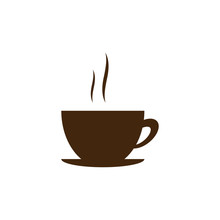 A Cup Of Coffee . Vector. Simp...
