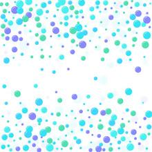 Festive Multicolored Circles, Confetti. Randomly Scattered Colored Bubbles. Childish Vibrant Round Dots On White Background For Decoration. Vector Illustration.