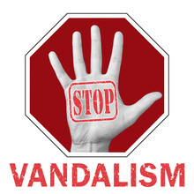 Stop Vandalism Conceptual Illu...