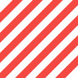 Pattern white and red slanting strips