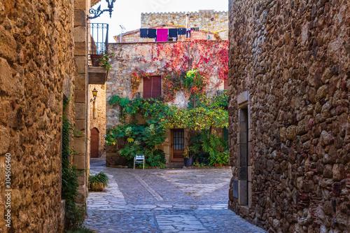 Obraz na plátně A tour of the historic center of Pals