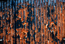 Close Up Of Rusty Corrugated I...