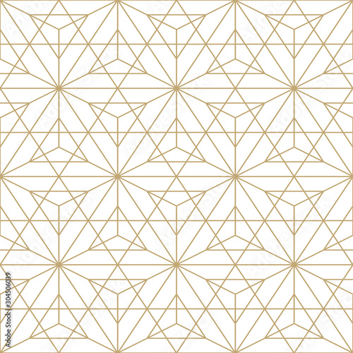 Fotografia, Obraz Abstract seamless ornamental gold pattern - geometric design