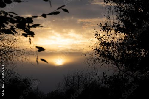 Fototapeta Das Sonnen-Licht durchbricht die Wolken