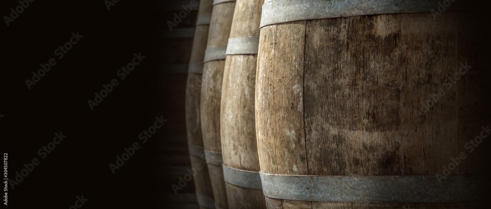 Fototapeta wine barrel texture
