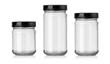 Leinwandbild Motiv empty glass jar isolated