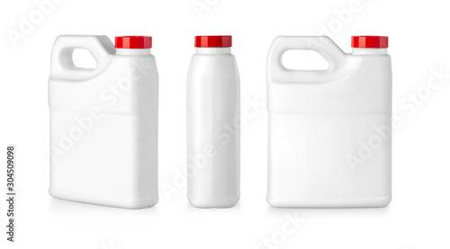 Fototapeta white plastic canister obraz