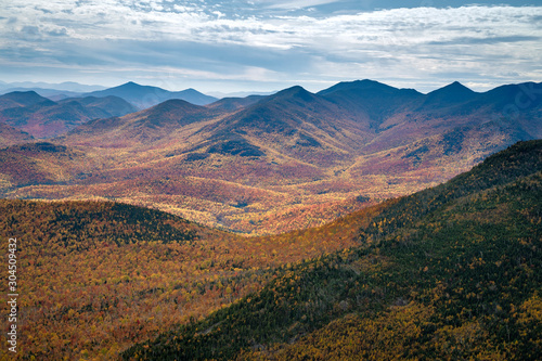 Adirondack mountains in the fall Wallpaper Mural