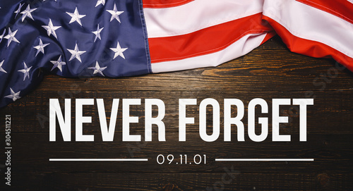Photo  Patriot Day September 11 9/11 USA banner - United States flag or merican flag, 9