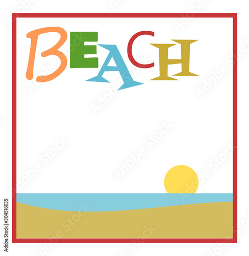 Beach design with muted colors and copy space #304516035