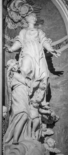 ARCO, ITALY - JUNE 8, 2018: The sculptural group of Assumption in the church Chiesa Collegiata dell'Assunta by Gabriele Cagliari di Verona from 16. cent.