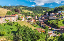 View At Doizieux Commune In Pilat Regional Natural Park, The Protected Area In French Auvergne-Rhone-Alpes Region.