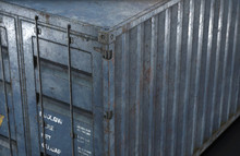 3d Illustration Container On T...