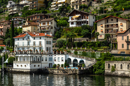 Waterfront of Argegno, Lake Como, Italy Canvas Print