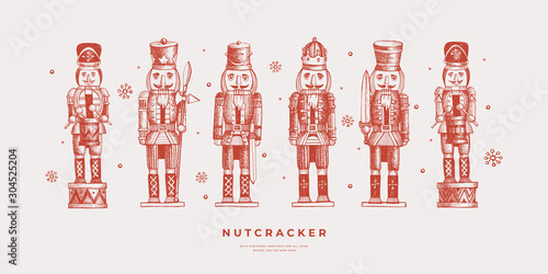 Fotografía Collection of Nutcracker soldiers
