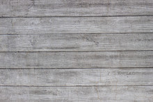 Gray Concrete Wall With Traces Of Boards. Horizontal Lines.