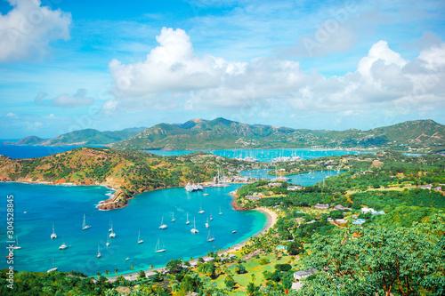 Fotografia, Obraz View of English Harbor from Shirley Heights, Antigua