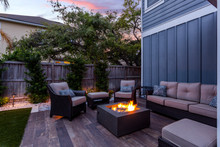 Beautiful Backyard Firepit At ...