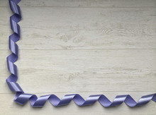 Curly Blue Satin Ribbon In The...