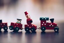 Toy Train On White Background
