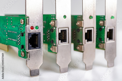 Network adapters for the RJ44 network connection Fototapet