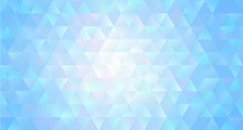 Abstract Regular Triangle Polygons Background Crystal Style. Geometric Triangular Backdrop. Stained Glass Pattern Back Style. Transparent Triangular Shapes With Original Geometric Pattern